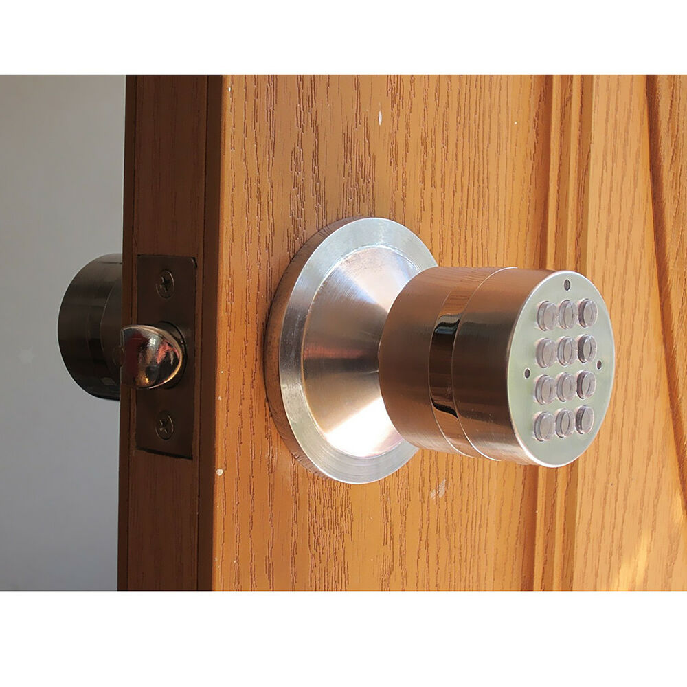 digital electronic code keyless keypad security entry door lock knob home ebay. Black Bedroom Furniture Sets. Home Design Ideas