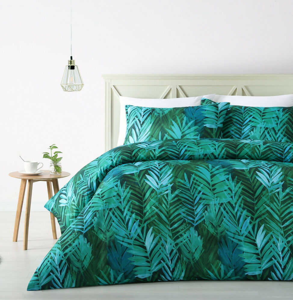 The Big Sleep Palms Leaf Tropical Quilt Doona Cover Set
