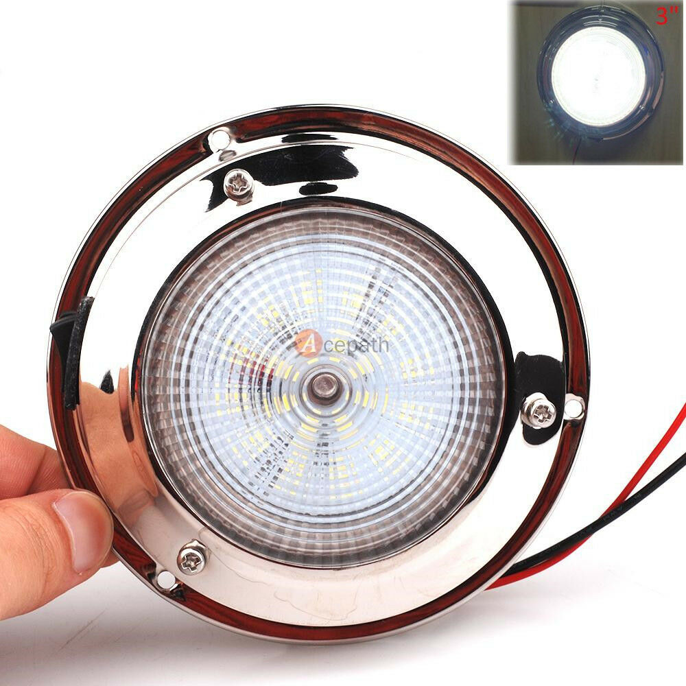 Replace Boat Lights With Led: Marine Boat Trailer Car RV LED Ceiling/Cabin/Dome Light