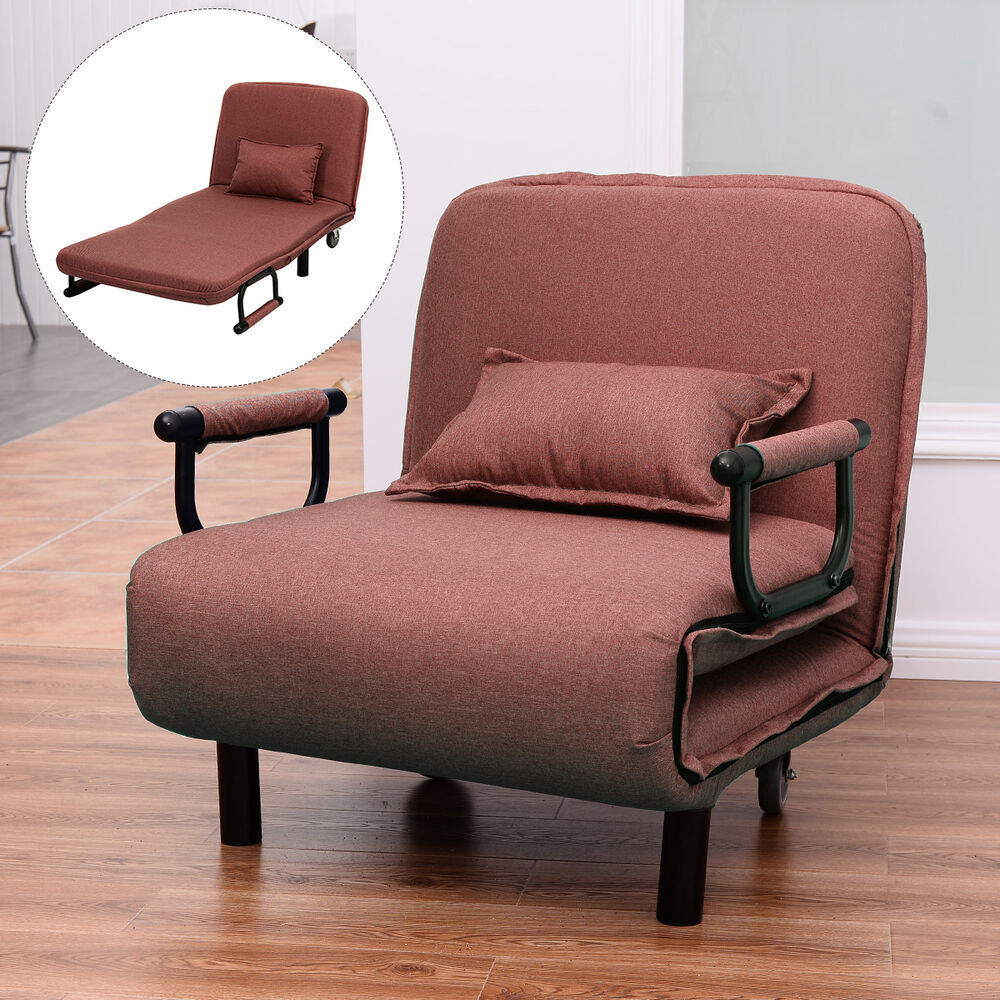 "Sofa Bed Folding Arm Chair 29 5"" Width Convertible Sleeper Recliner Loun"