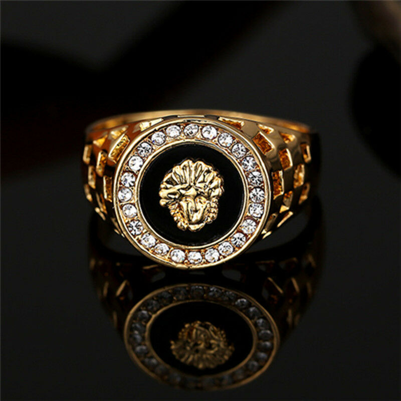 Vintage Men Jewelry Stainless Steel Pinky Engagement Ring