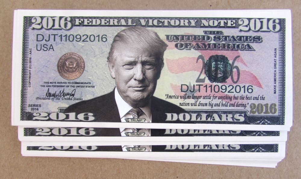 25 Donald Trump President Money Fake 2016 Lot Bills