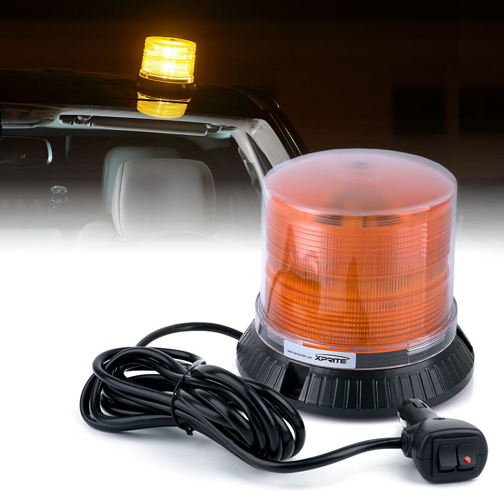 Xprite Amber 18w Rotating Led Strobe Beacon Security