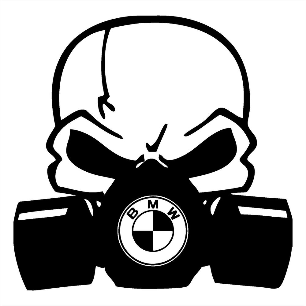 Bmw Skull Mask Head Bone Bayerische Motoren Werke Sticker