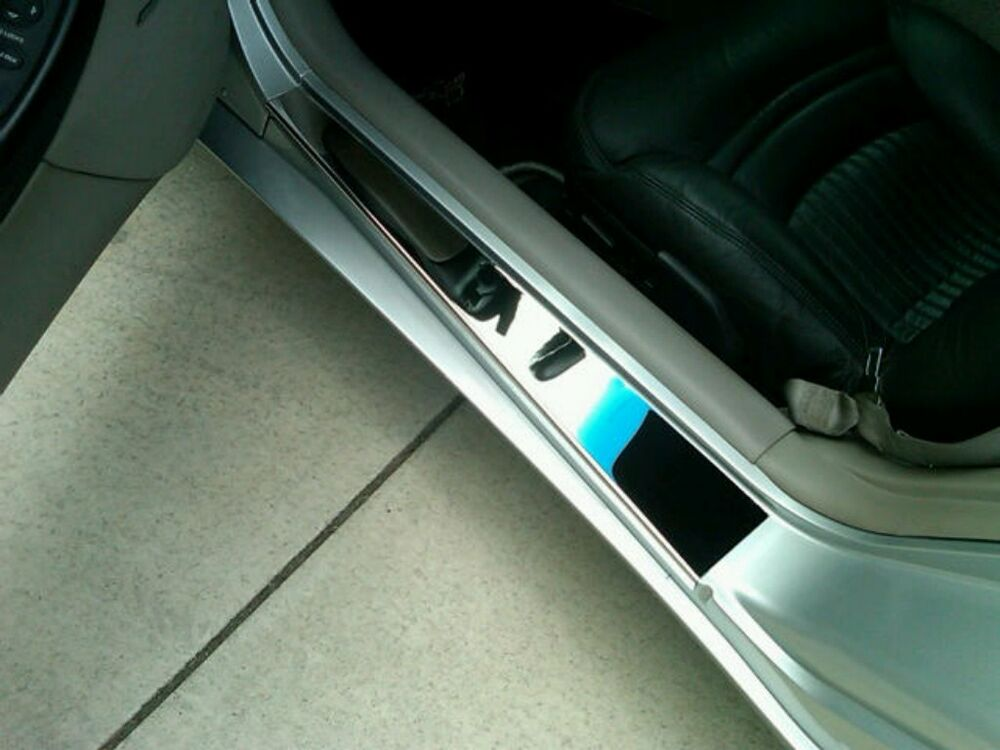 Corvette C5 Ls1 Ls6 Polished 2 Pc Door Sill Covers Chrome Dress Up Stainless Ebay