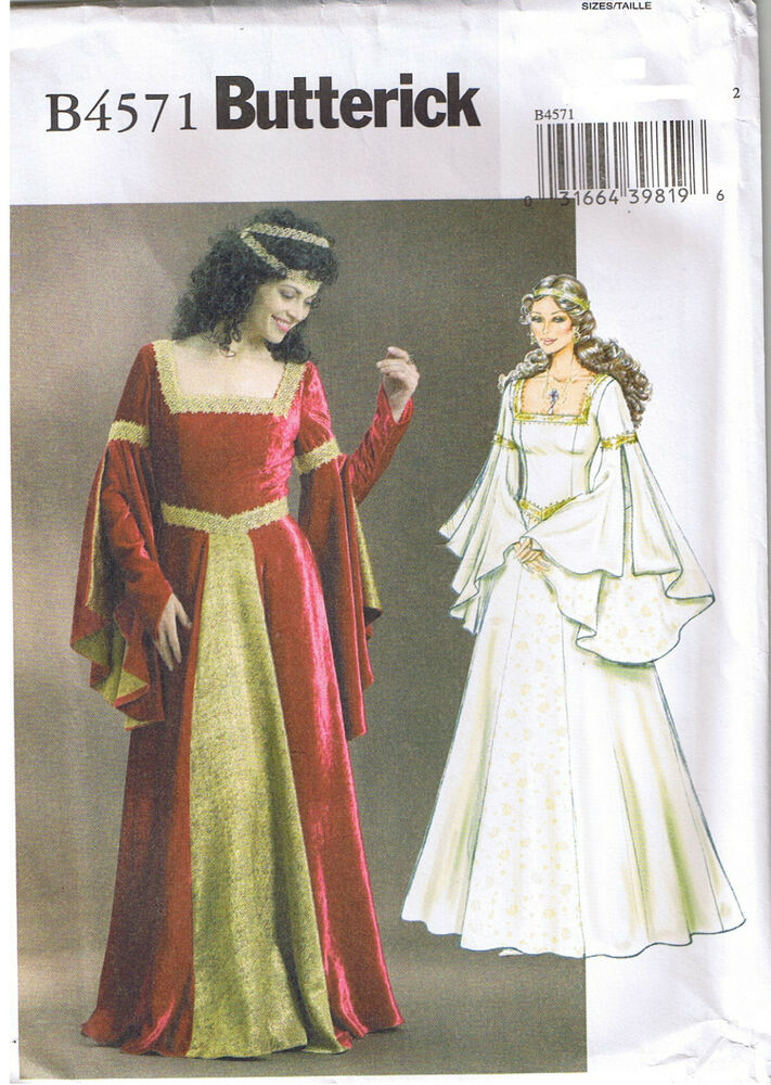 Renaissance queen princess wedding dress gown sewing for Plus size wedding dress sewing patterns