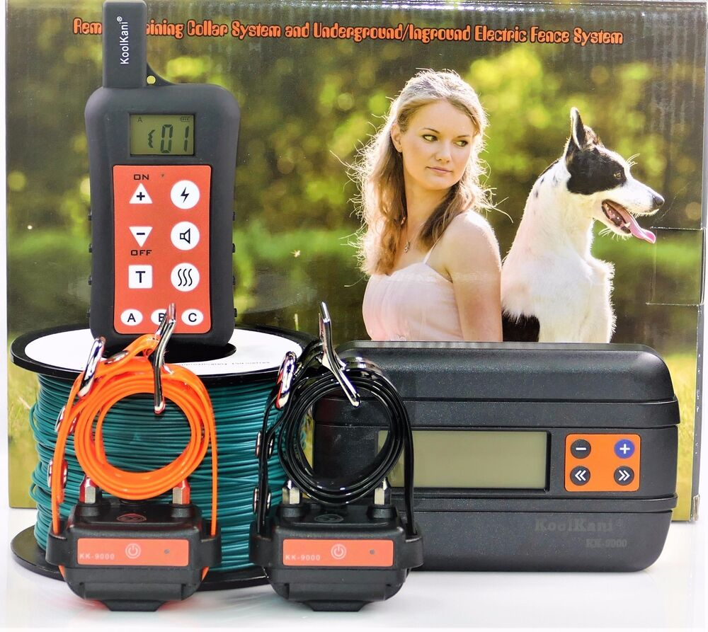 Electric Dog Containment Fence Amp Remote Dog Shock Collar