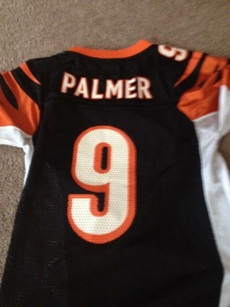 2f8d1e587 CARSON PALMER BENGALS #9 NFL EQUIPMENT REEBOK ON FIELD Jersey YOUTH Size S  8 | eBay