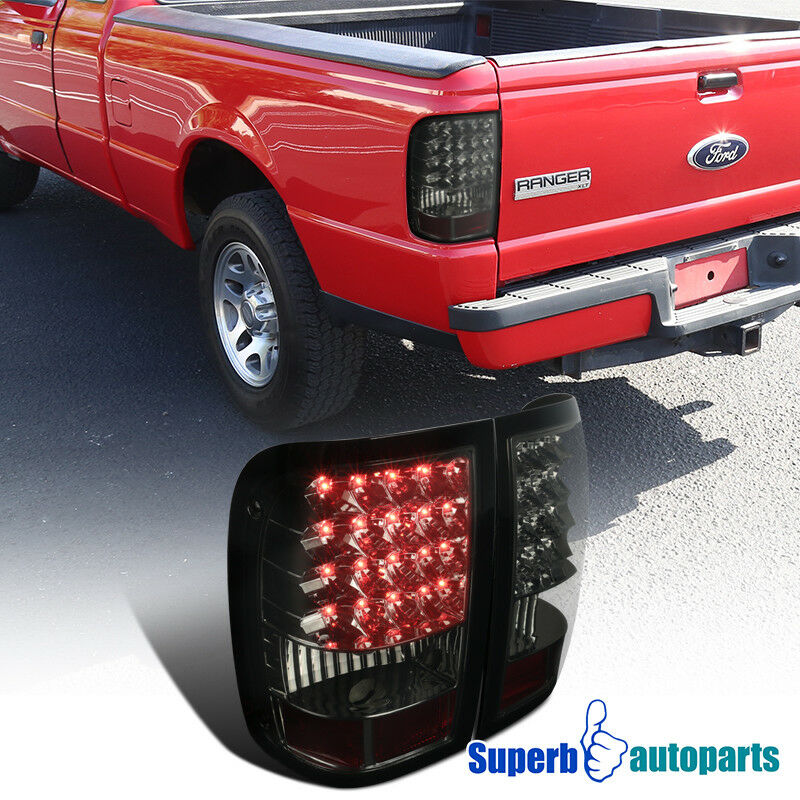 For 2006 2011 Ford Ranger Smoke Euro Rear Led Tail Lights