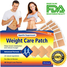 Weight Loss Patch 6000mg Best Slim Belly Patch APPETITE CONTROL Slimming 30 ct