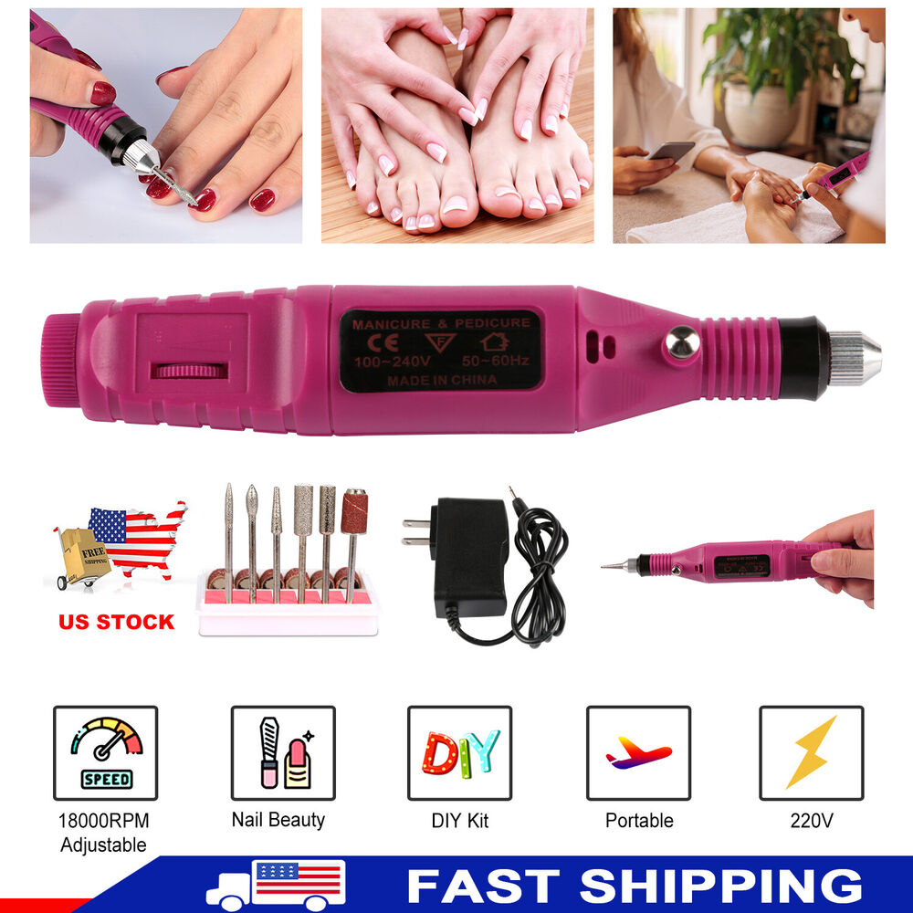 Professional Manicure Pedicure Electric Drill File Nail