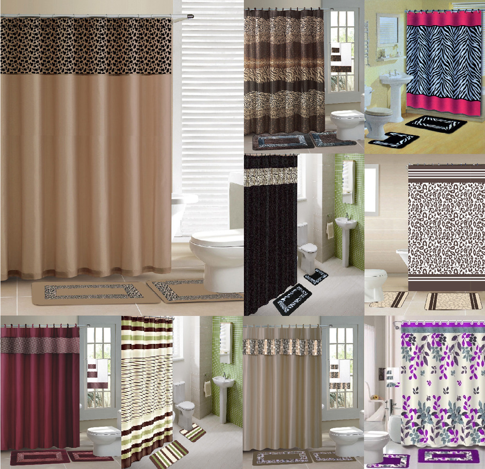 New designs shower curtain matching covered fabric hooks for New bathroom set