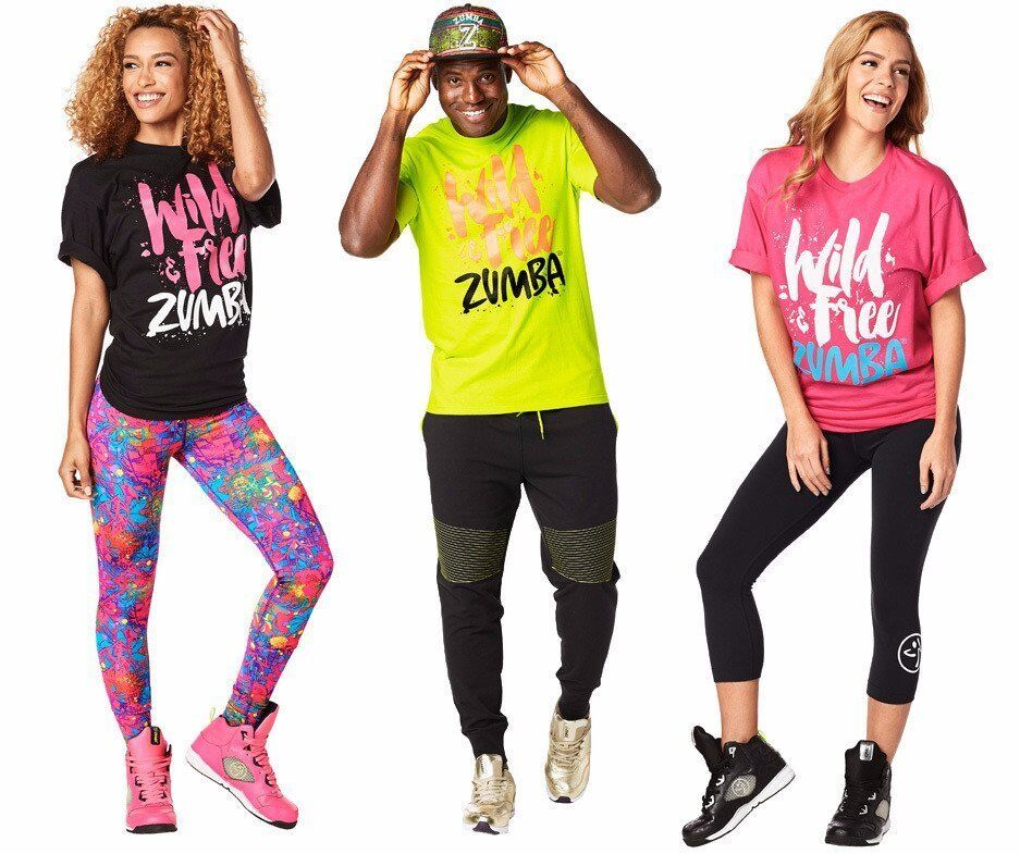 Zumba Fitness Unisex Wild for Zumba Tshirt One Size (Mens L-XL) NEW! | eBay