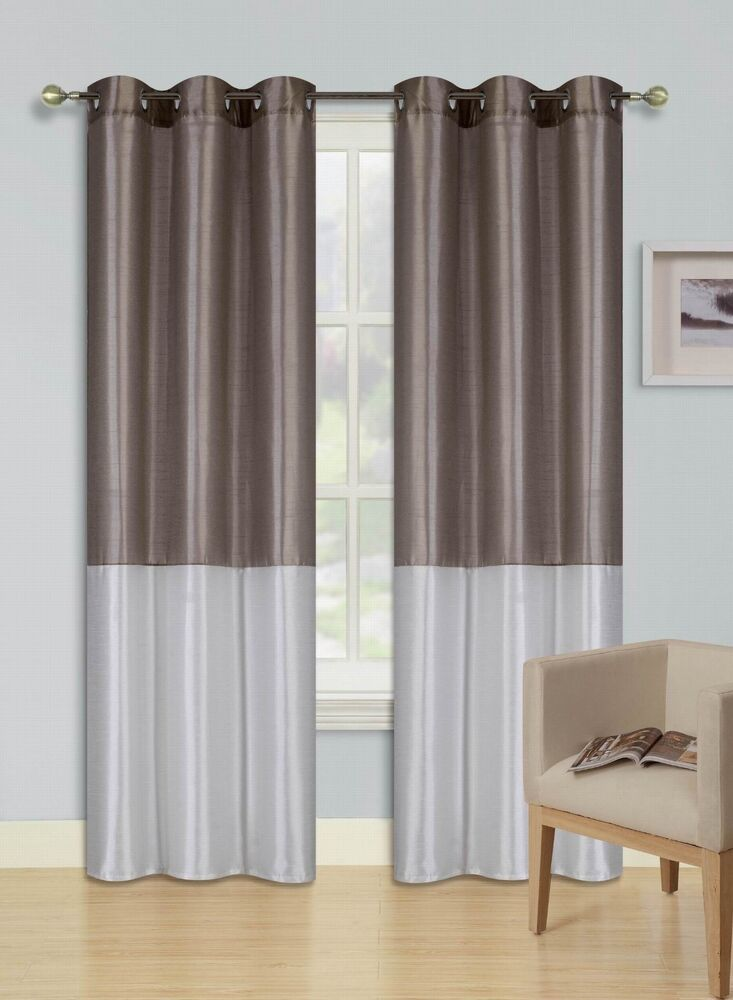 eid taupe ivory insulated lined blackout grommet window