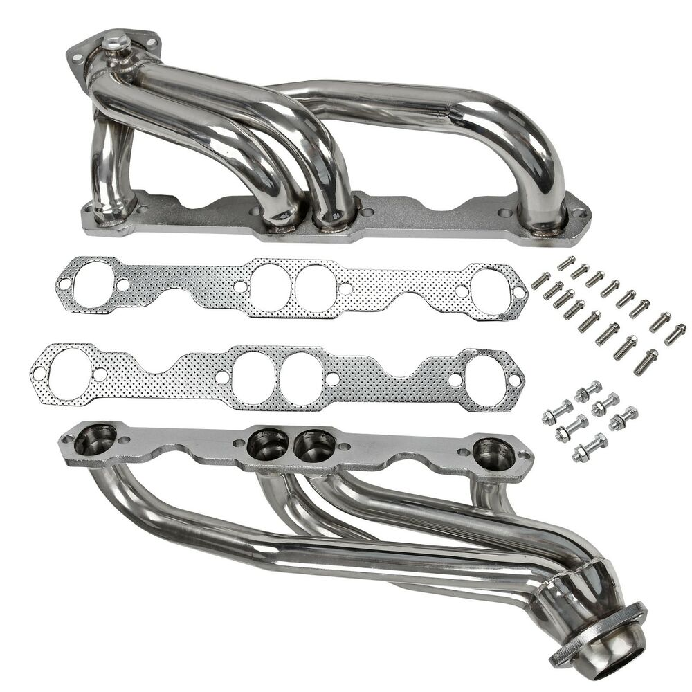 Stainless Steel Headers Truck W/ Gaskets Fits Chevy GMC 88