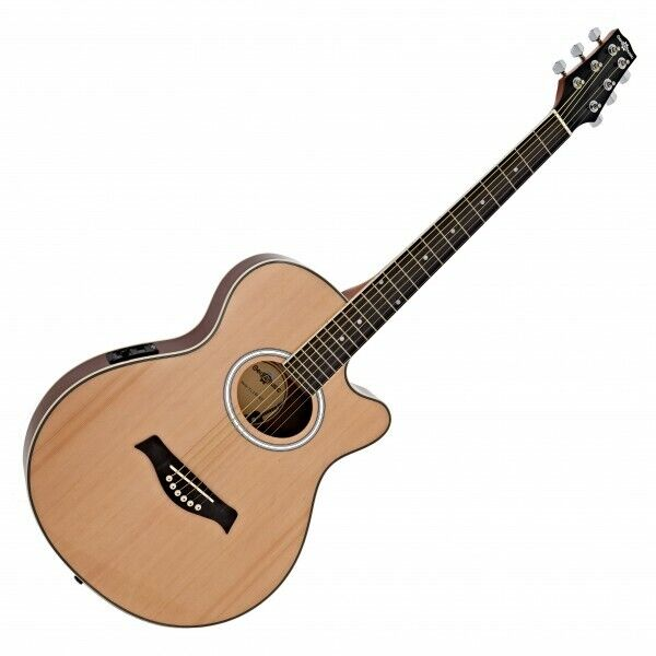 thinline electro acoustic guitar by gear4music 5060218384960 ebay. Black Bedroom Furniture Sets. Home Design Ideas