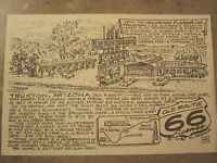 Frontier motel Truxton by Late Bob Waldmire Artist Route 66 Post card, Quik s&h