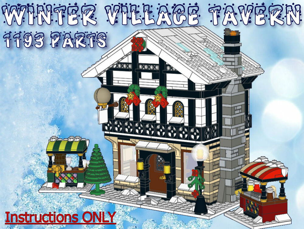 lego winter village tavern instructions only fits 10216. Black Bedroom Furniture Sets. Home Design Ideas