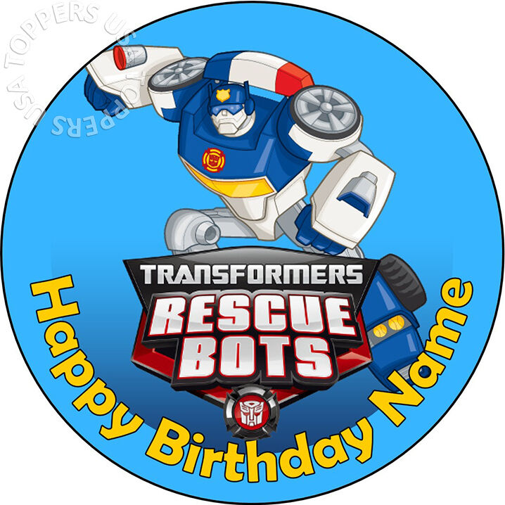 Edible Transformers Rescue Bots Party Cake Topper Wafer