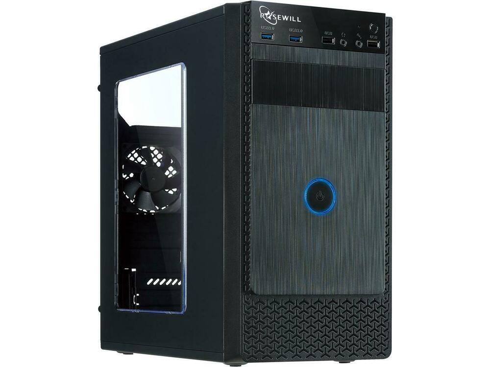 Rosewill FBM-X1 Black Steel / Plastic ATX Mini Tower Case ...