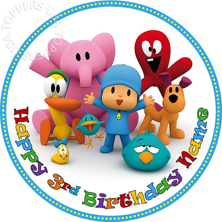 Pocoyo Birthday Cake Topper