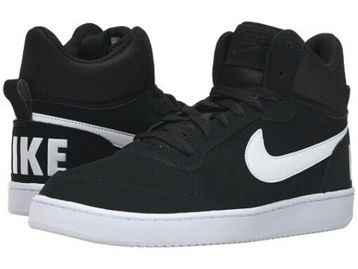 adcb35bb645be5 Nike Men s Classic Court Borough Mid in Black with White in Sizes 6.5 to 15