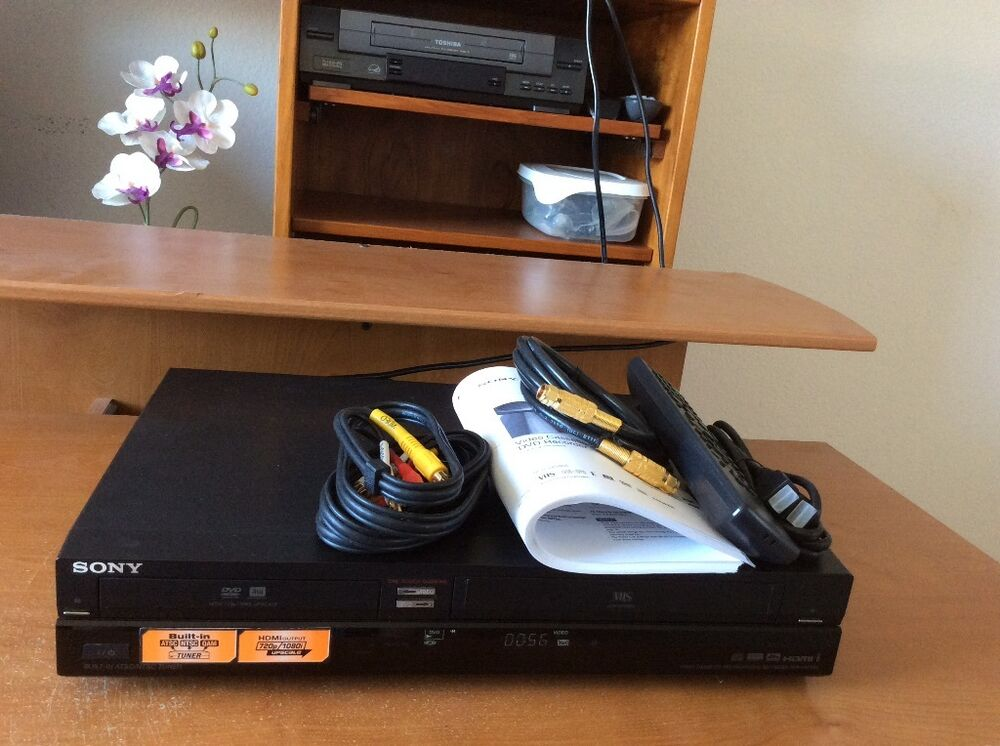 sony rdr vxd655 dvd vcr combo player recorder hdmi. Black Bedroom Furniture Sets. Home Design Ideas
