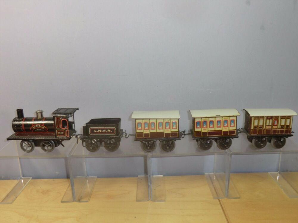 vintage bing 39 0 39 tin plate clockwork model of a lnwr train set mega rare ebay. Black Bedroom Furniture Sets. Home Design Ideas