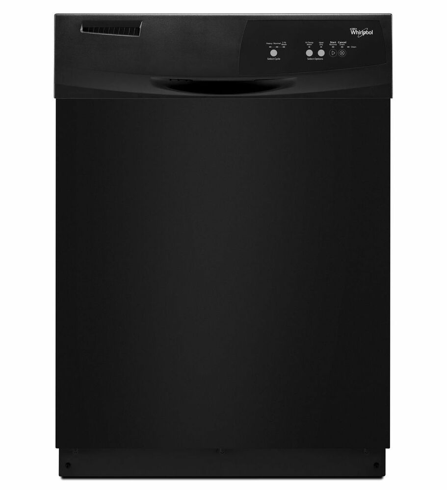 Whirlpool Black 24 Quot Built In Tall Tub 3 Cycle Dishwasher