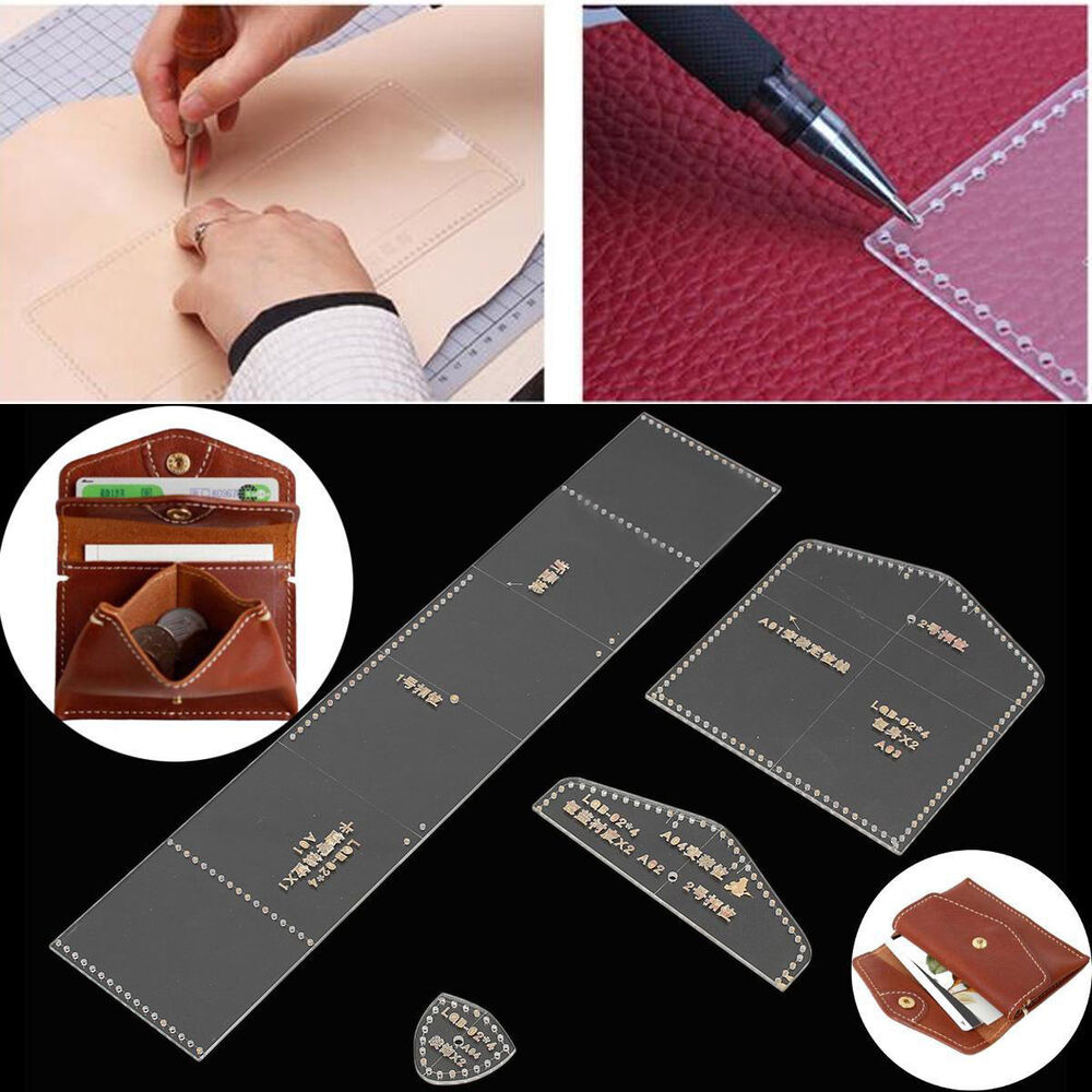 Wallet leather template clear acrylic leather pattern diy for Crafts that sell on ebay