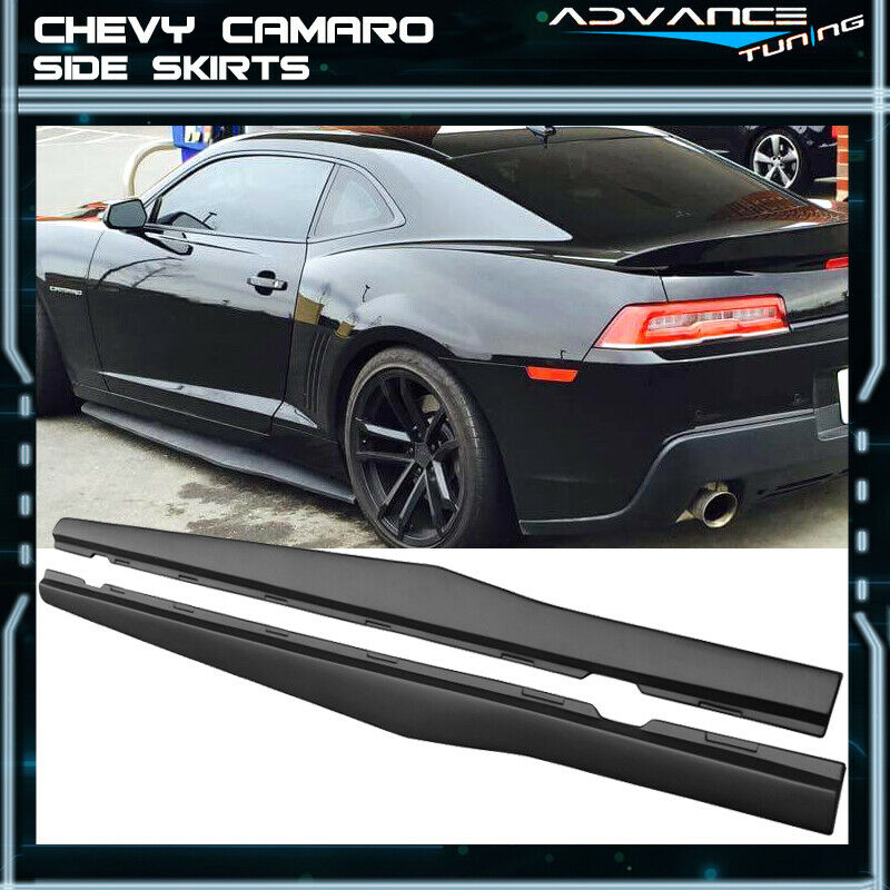For 10 15 Chevy Camaro Ikon Style Side Skirts