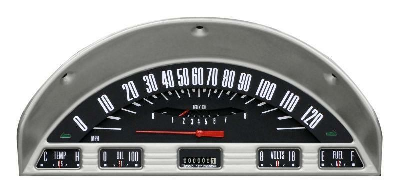 Labeled Instrument Panel For Trucks : Classic instruments ford f truck gauge panel