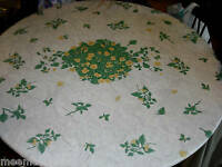 Yellow IMPATIENTS Round FITTED Dining TABLECLOTH PATIO Picnic Table COVER Pad