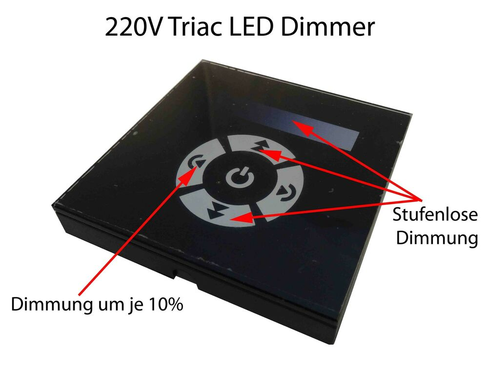 230v triac touch wand unterputzdose rund einbau dimmer. Black Bedroom Furniture Sets. Home Design Ideas
