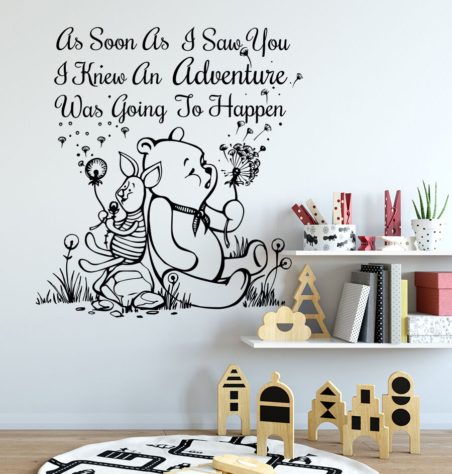 Winnie The Pooh Wall Decals Quote Decal Vinyl Stickers