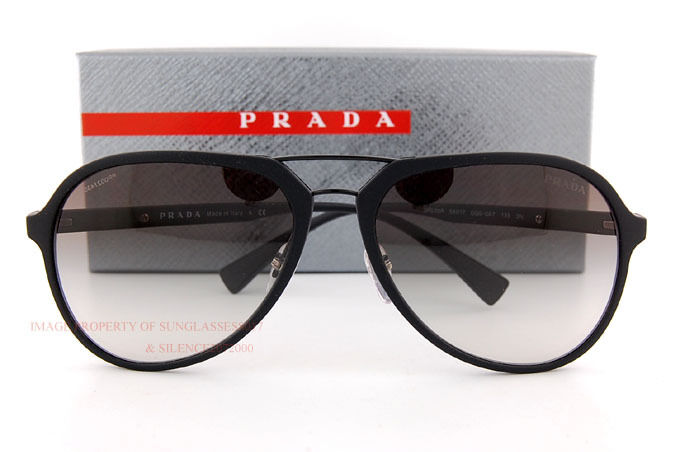 ac6548198e Details about Brand New Prada Sport Sunglasses PS 05RS DG0 0A7 Matte  Black Gray Gradient Men