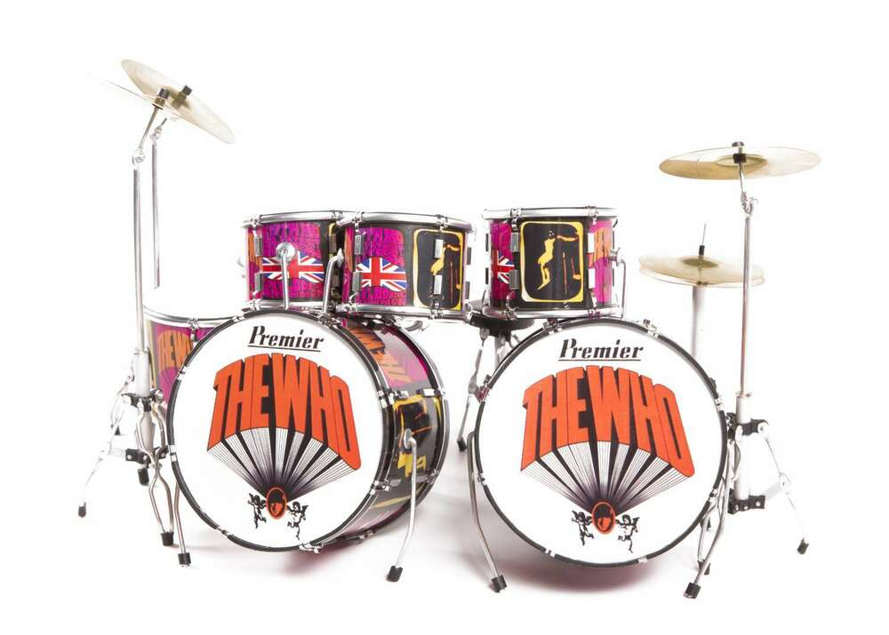 Axe Heaven Keith Moon Tribute Miniature Drum Set Replica