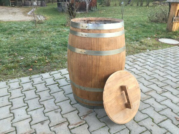 neues kastanienfa 150 ltr holzfa regentonne wasserfass fass weinfa tischfa ebay. Black Bedroom Furniture Sets. Home Design Ideas