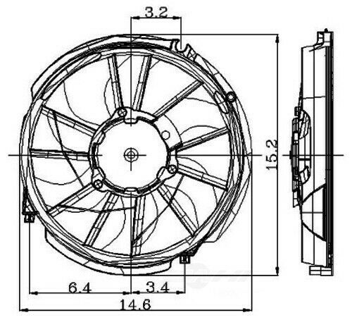 Engine Cooling Fan Assembly Global 2811271