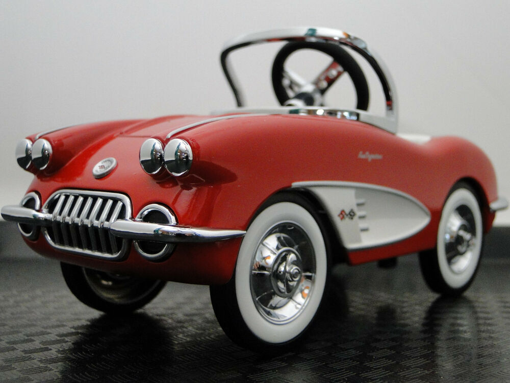 Pedal Car 1959 Corvette Chevy Vintage Sport Hot Rod Midget