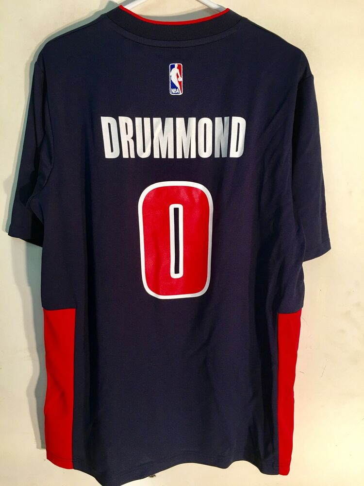 019bbf9be Adidas NBA Jersey Detroit Pistons Andre Drummond Navy SS sz 4X