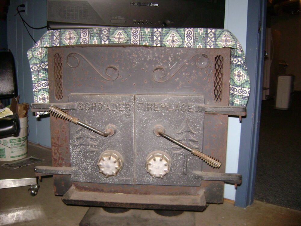 """vintage schrader wood stove/fire place """"great condition"""" 