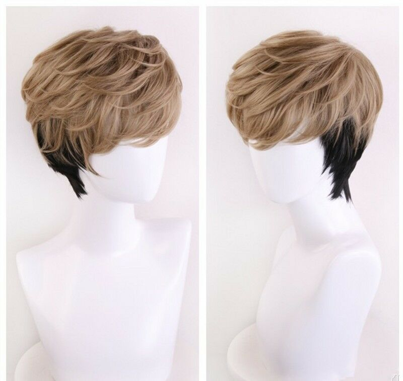 Anime Killing Stalking Oh Sangwoo Cosplay Wig Mixed Brown ...