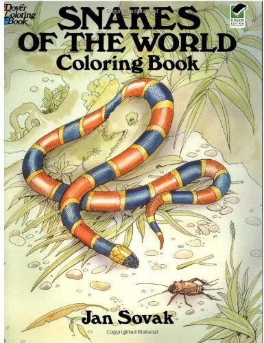 Snakes of the World Coloring Book (Dover Nature Coloring Book) by Jan Sovak
