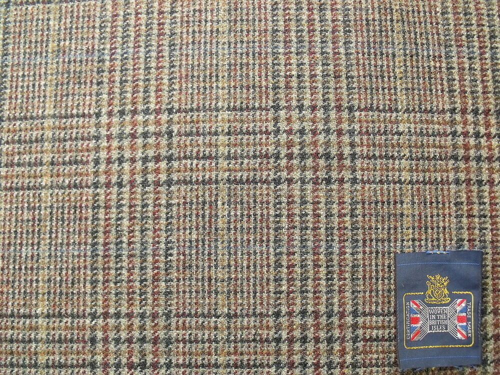 100 pure new wool glen check tweed design fabric with for New check designs