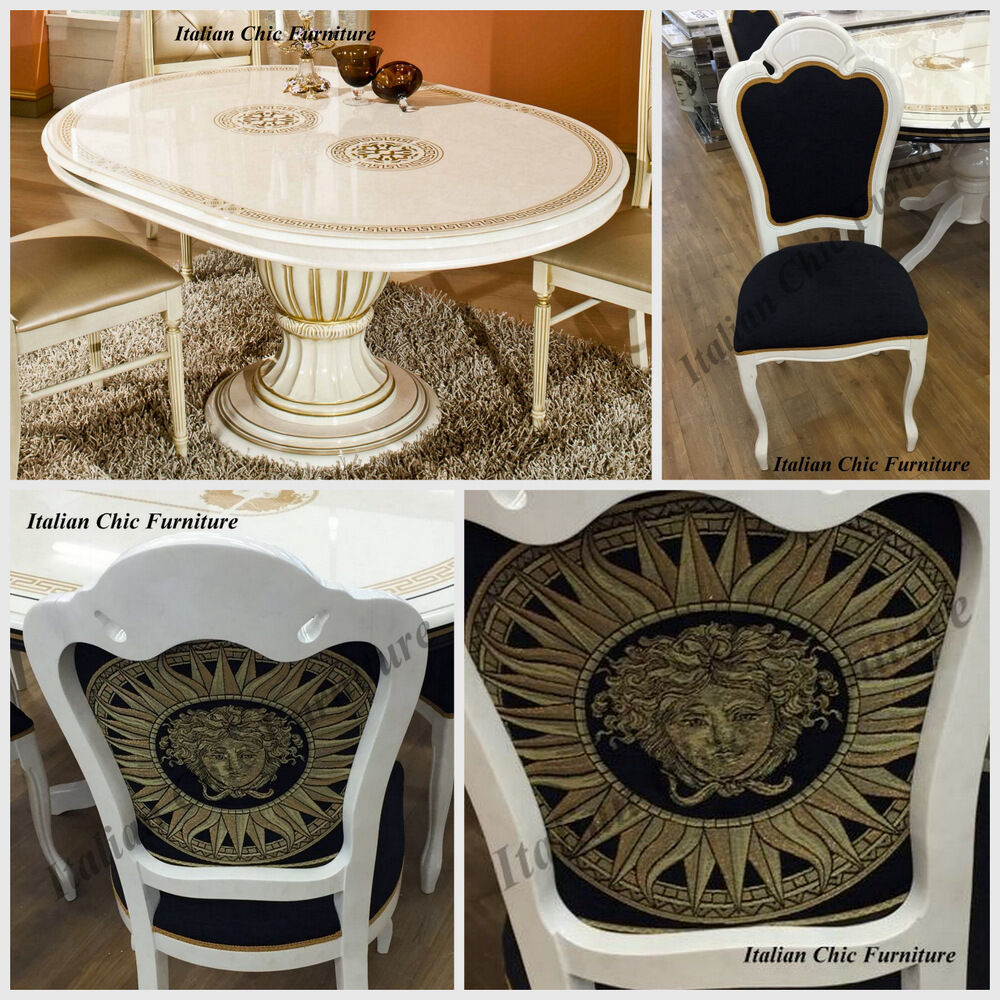 Versace Style Italian Made Dining Table and Chairs Beige  : s l1000 from www.ebay.co.uk size 1000 x 1000 jpeg 226kB