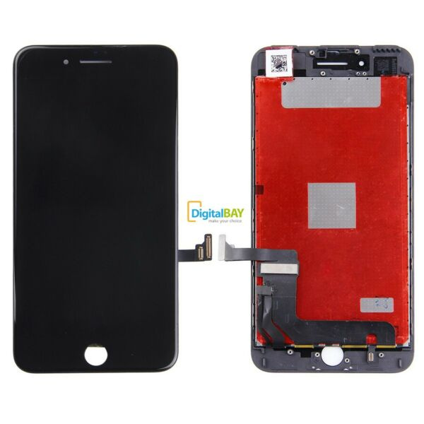 TOUCH SCREEN LCD DISPLAY RETINA SCHERMO + FRAME PER APPLE IPHONE 7 7G NERO