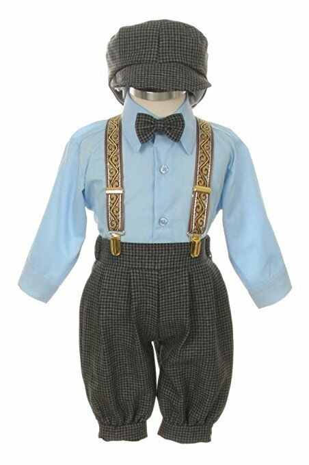 95431df47 Baby Toddler Boys Knickers Vintage Outfit Set Formal Overall Suit ...