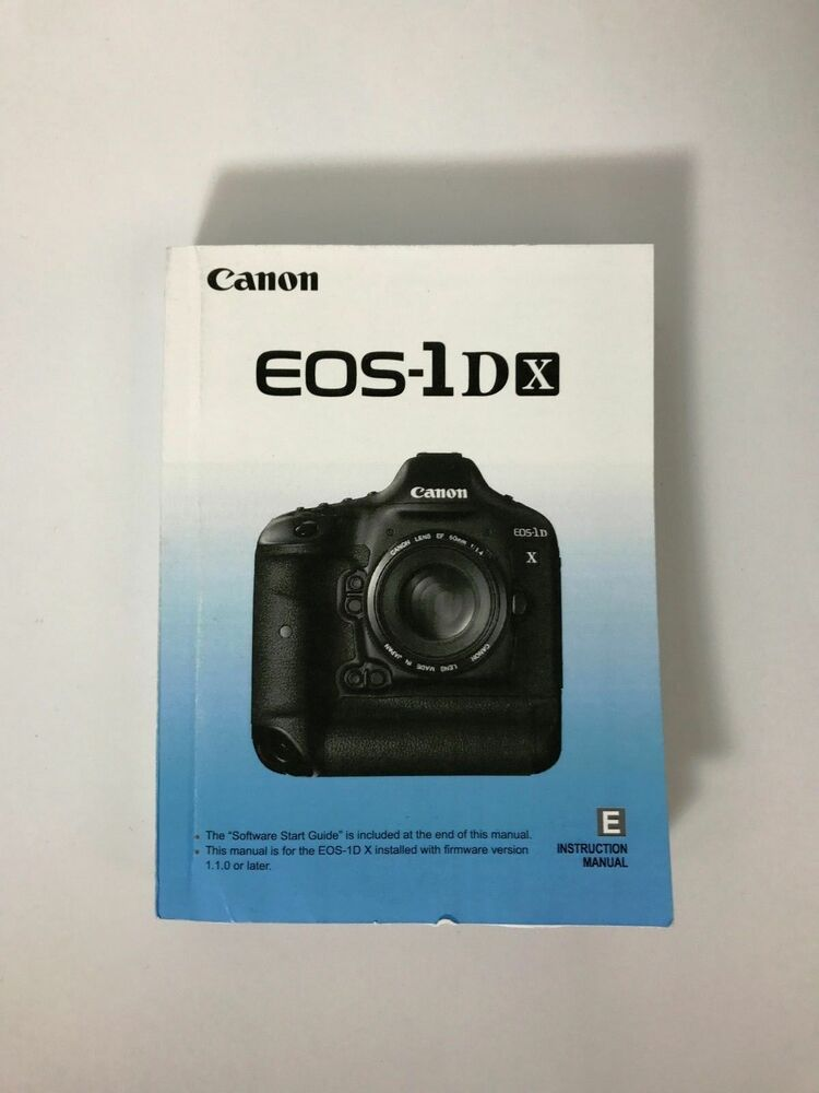 canon eos 1dx instruction owners manual eos 1dx book new rh ebay com canon eos 1d mark 3 manual canon eos-1d c review