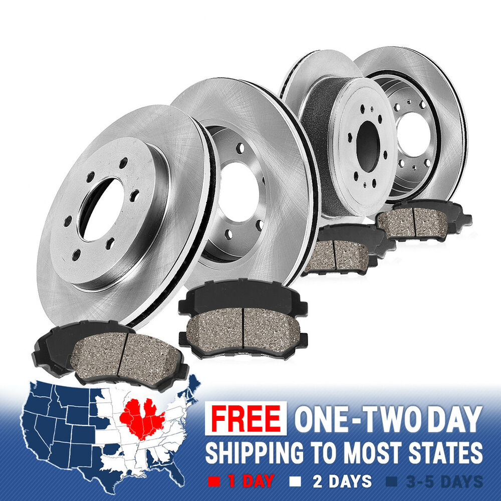 Buick Enclave Accessories 2011: Front & Rear Rotors + Ceramic Pads Kit Buick Enclave Chevy